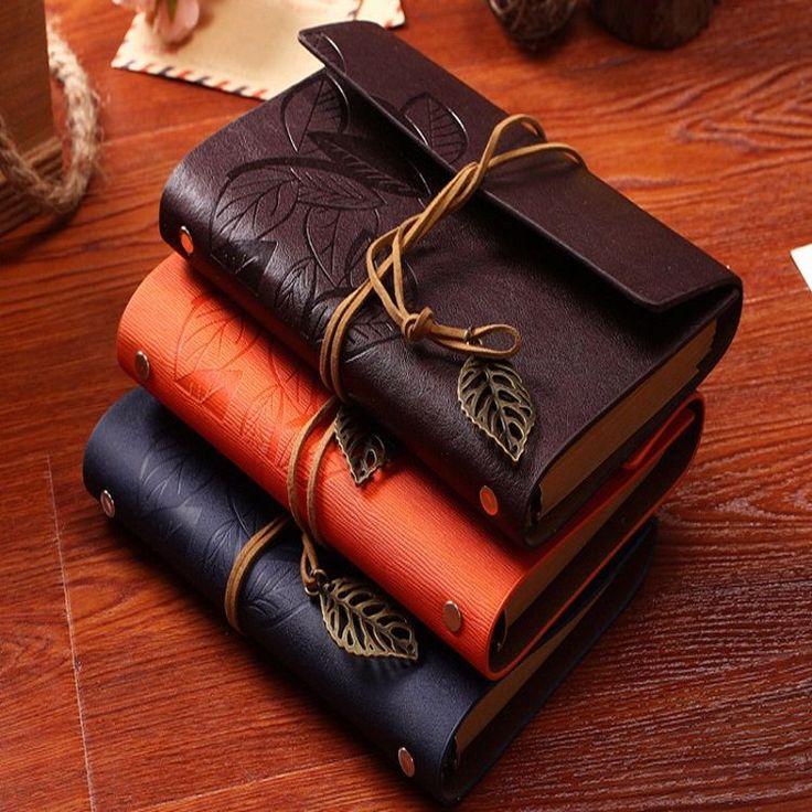Buku Catatan Binder Note Retro Leaf Leather Kerat A6 Tokonik