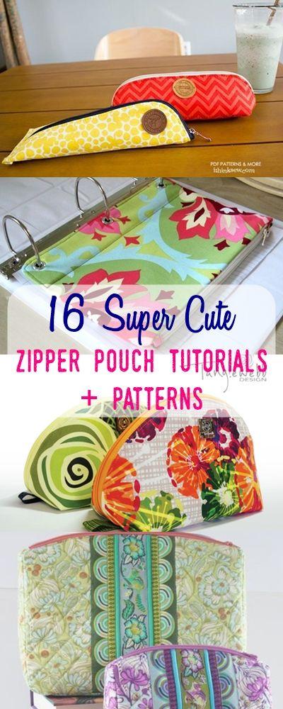 pouch sewing tutorials | zipper pouch ideas | how to sew zipper pouches |