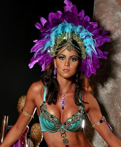 wunderschönes Samba Kostüm