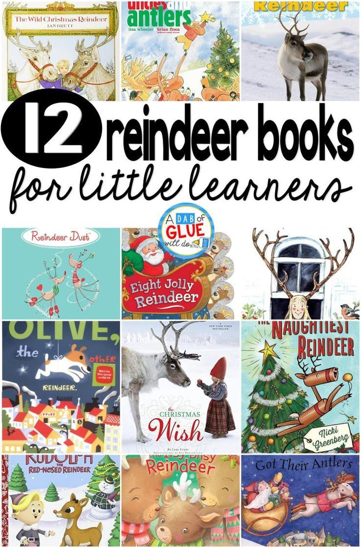 Our 12 favorite reindeer books are perfect for your Christmas holiday lesson plans. These are great for preschool, kindergarten, or first grade students.