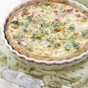 Frittata met spinazie, erwten, pecorino en rauwe ham