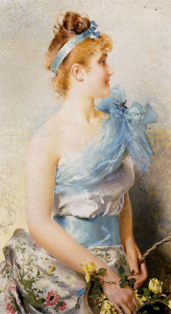 Vittorio Matteo Corcos (1859-1933) A Spring Beauty