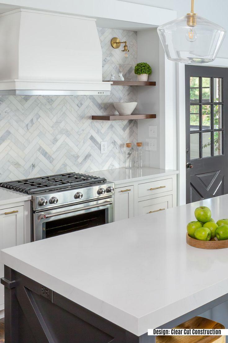 Asian Statuary Herringbone 1x3 Marble Tile In 2020 Kitchen