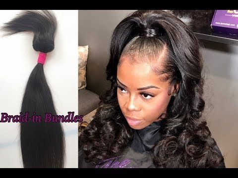 Full weave NO Glue, Thread, or Clips! How to install Braid-In Bundles|ft Luvmehair - YouTube
