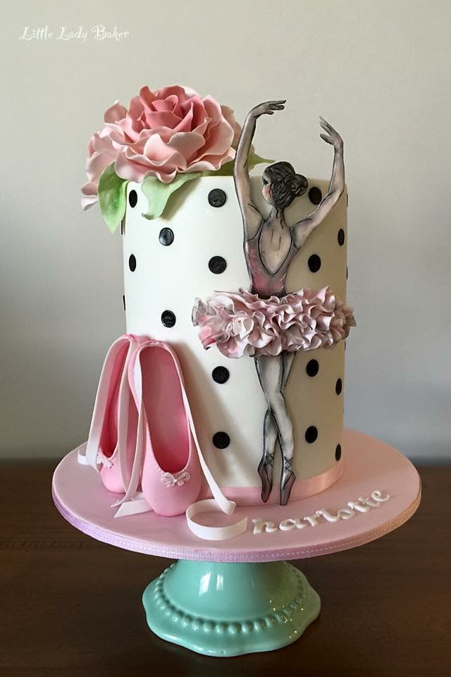 Ballerina ballet cake