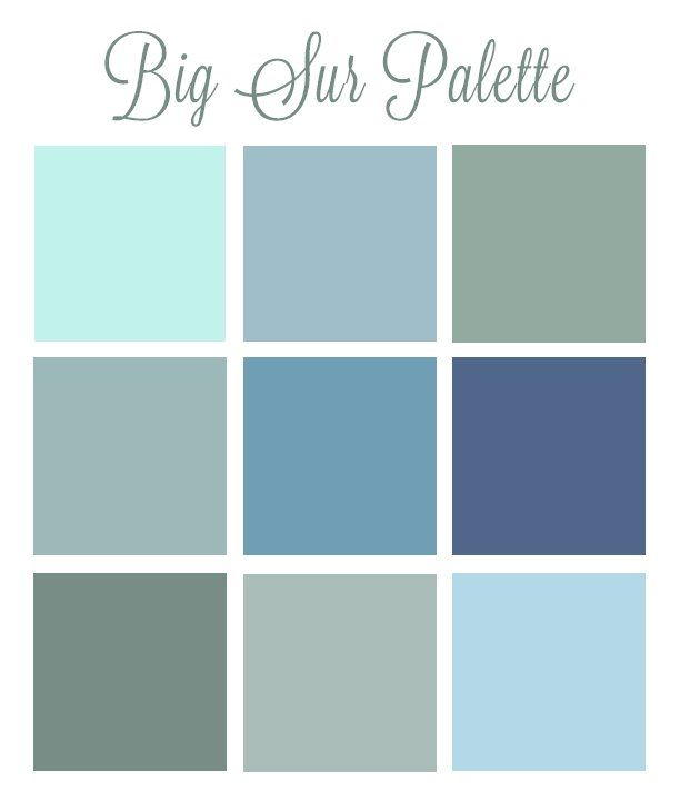 Attractive Seafoam Green Color Palette Big Sur Color Palette With