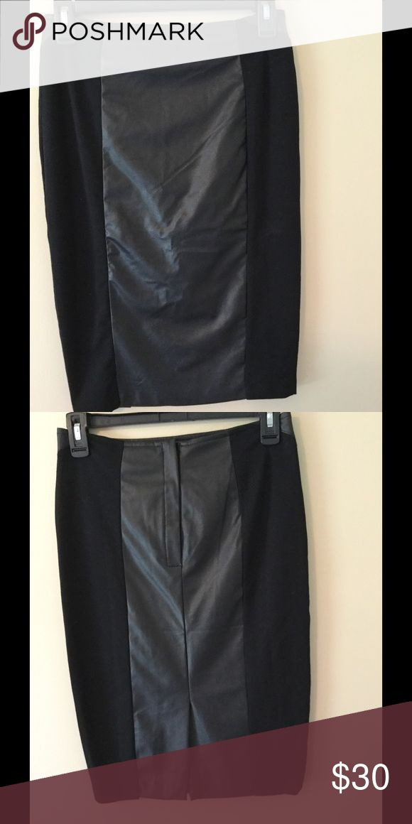 Faux leather skirt Brand new with tag. Never worn. It's way too small for me now... Costa blanca  Skirts Pencil