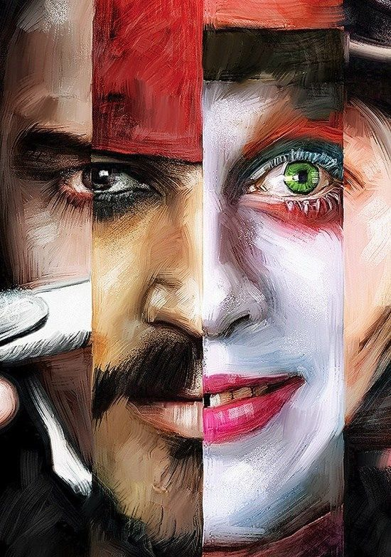 SICKKK Johnny Depp painting