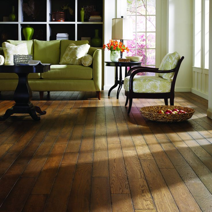 Update your home decor with an antique style with this stunning oak hardwood floor. This hardwood floor has a French bleed edge for a rustic look and is great for high traffic.