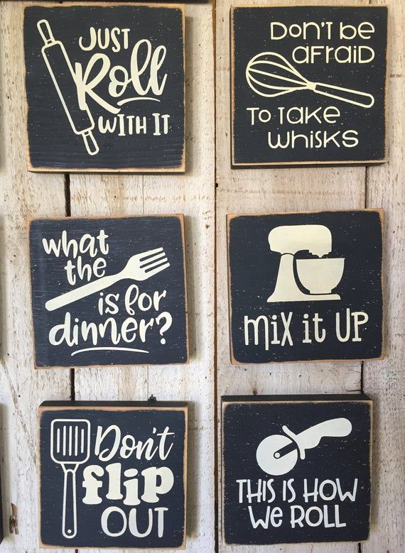 Farmhouse Kitchen Wall Art Cooking Pun Signs Kitchen Wood Etsy In 2020 Kitchen Humor White Kitchen Decor Cooking Puns
