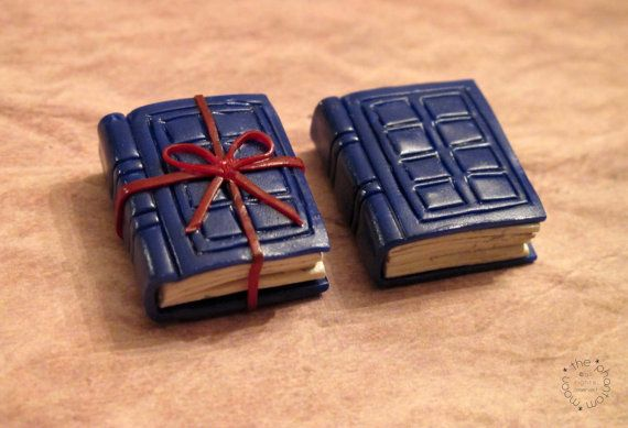 River Song Tardis Journal Polymer Clay Charm Doctor Who inspired jewelry, by ThePhantomMoon #DoctorWho
