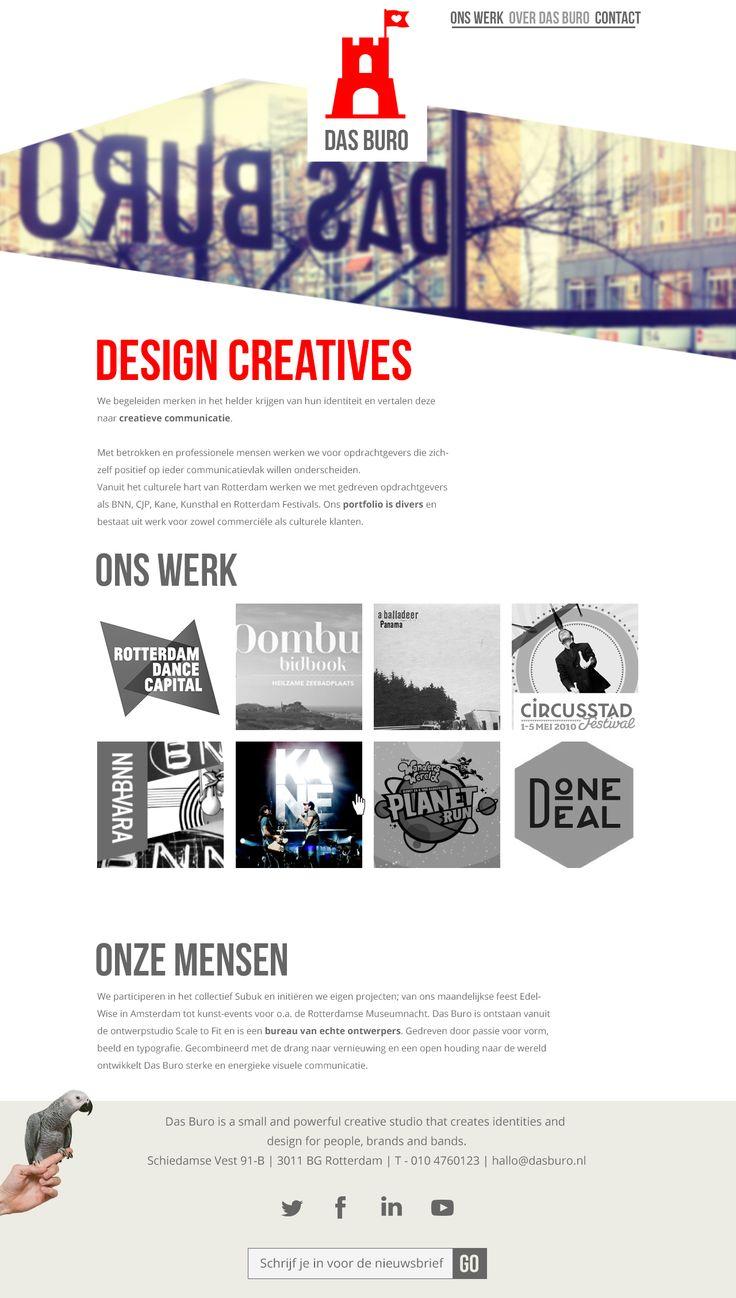 Concept desktop website voor Das Buro, een creatieve studio in Rotterdam. Geheel zelfstandige opdracht. #webdesign
