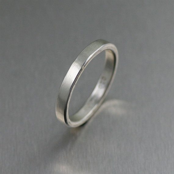 3mm Matte Stackable Sterling Silver Band Ring - Makes a great #Wedding Band or #Engagement Ring! by johnsbrana, $65.00