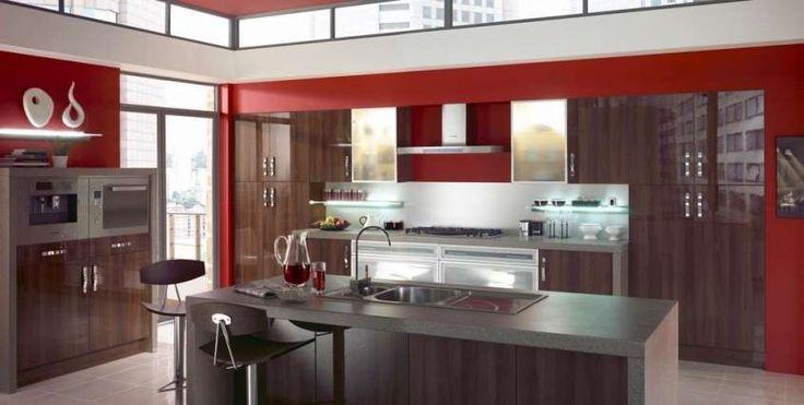 Idee colore pareti cucina - Pareti rosse