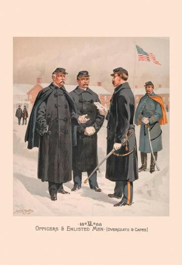 Officers & Enlisted Men (Overcoats & Capes) 12x18 Giclee on canvas