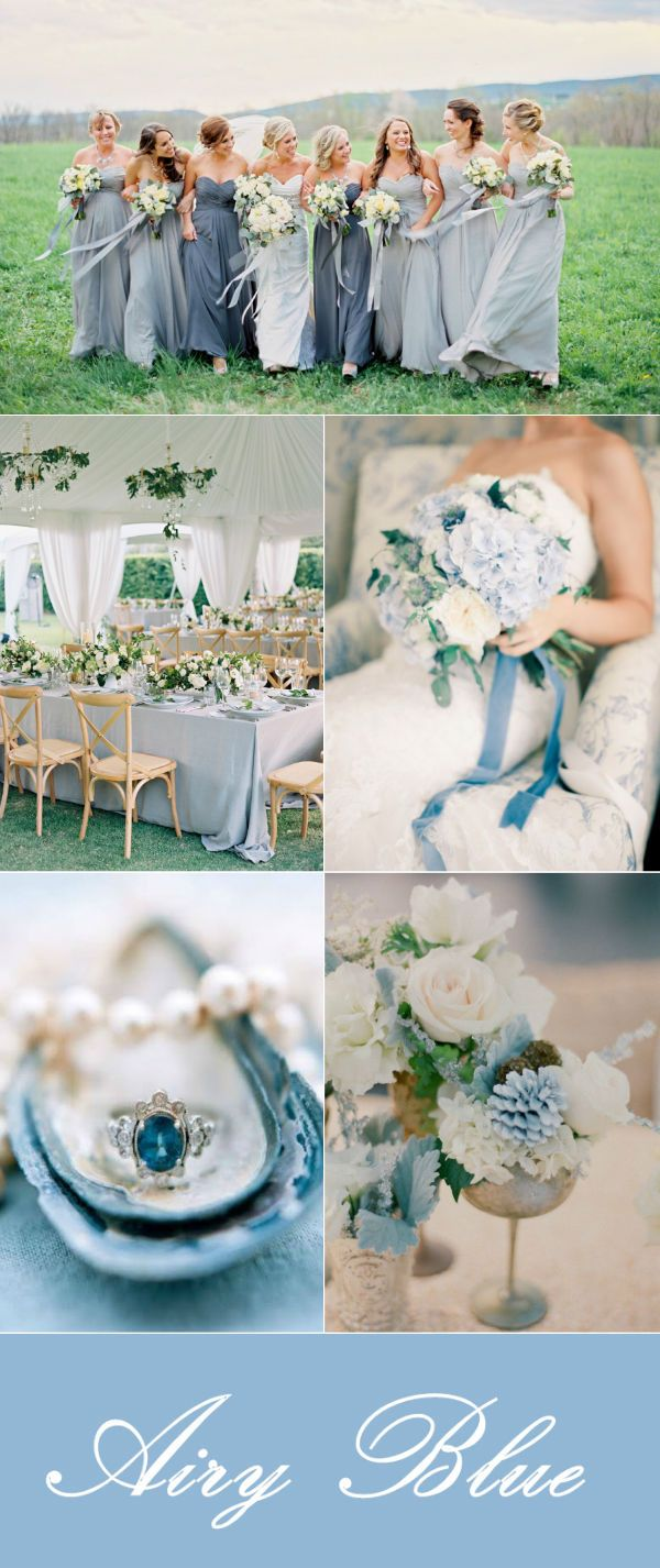 elegant airy blue wedding color ideas for fall