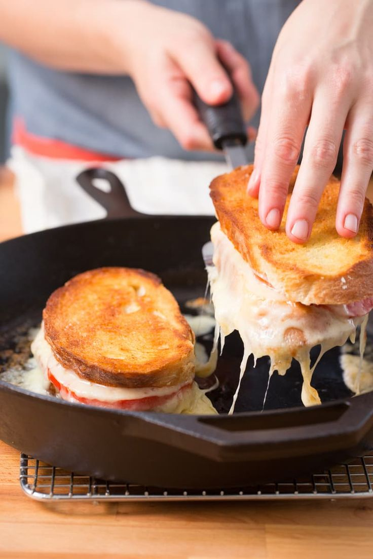 This Grilled Cheese Sandwich is just heavenly. An amazing combination of melted cheese and fresh tomato! You have to try this recipe!