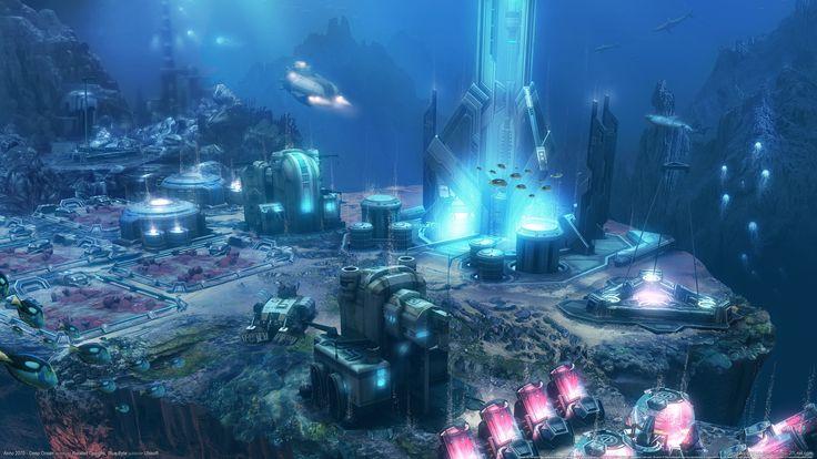ANNO 2070 Deep Ocean sci-fi underwater city wallpaper | 2560x1440 | 126552 | WallpaperUP