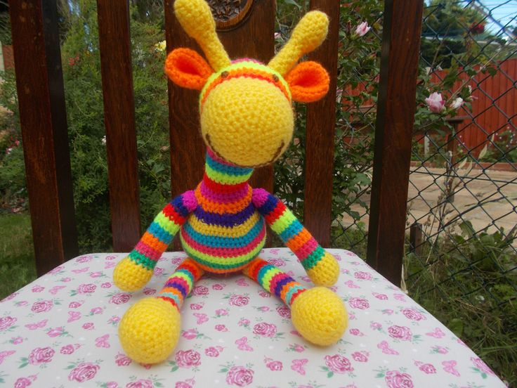 Yellow and bright colours giraffe.