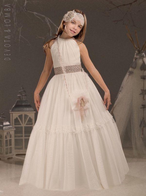 Vestidos De Comunión Marla 2020 Moda En Pasarela Vestidos Para Primera Comunion Vestido Floreado De Niña Vestidos Niñas Primera Comunion