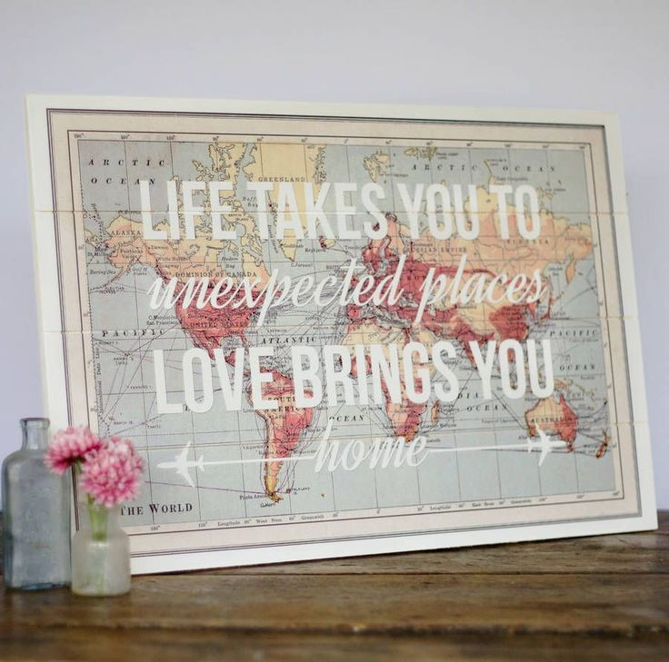 world map wooden wall art by of life & lemons | notonthehighstreet.com