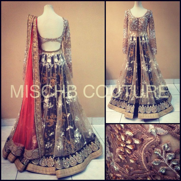 Anarkali with Palazzo pants by MischB Couture, mischbcouture@gmail.com for inquiries