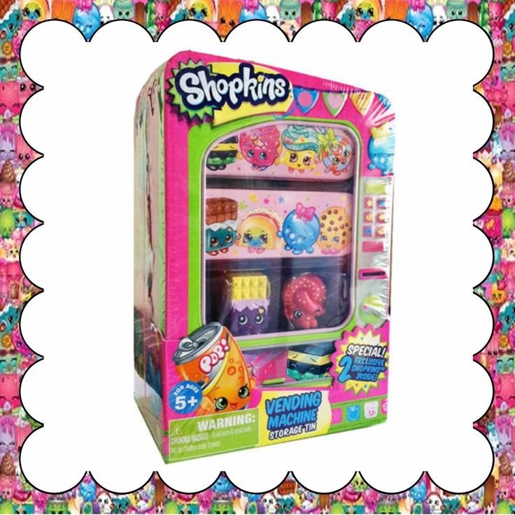 Shopkins Vending Machine Storage Tin Special! 2 Exclusive Shopkins Inside!
