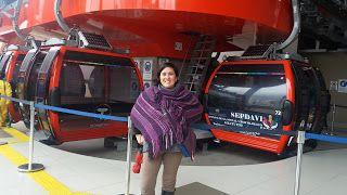 Viajando con la familia sosa: Teleférico rojo de la paz.Camino al ALTO.