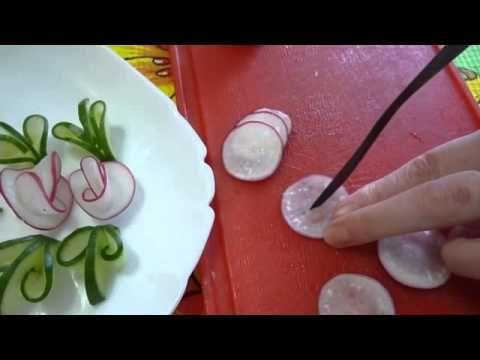 yemek süsleme sanatı ;) - YouTube