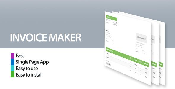 Invoice Maker/Creator by borni PDF Invoice Maker Script. This is a single page invoice creator app easy to install (just copy the files) and easy to use.