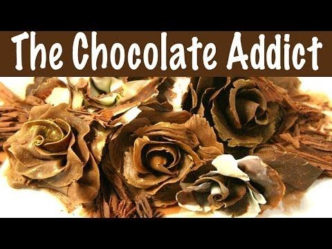 How to Make an Exquisite Chocolate Rose with Modeling Chocolate {re post} - YouTube