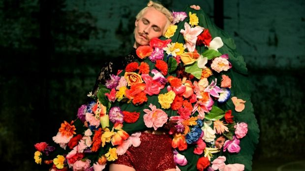 SMH Arts: Dance becoming more of a video art form with dance and film becoming more of a collaboration. Pictured is Benjamin Hancock showing off a flower dress. 13th July 2015. Photo: Steven Siewert