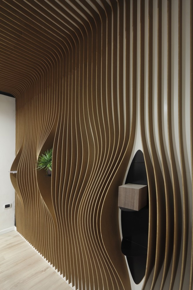 Incredible wall + ceiling. And the floor looks nice, too. Masisa Lab @ Plataforma Arquitectura