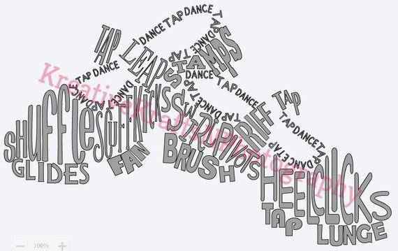 Tap Dance Svg Tap Dance Dance Svg Dance Shoes Tap Word Art Iron On Cricut Silhouette Sport Tap Dance Dance Photography Word Art