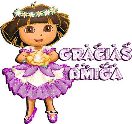 Mandy's Creations: Gracias Amiga - Dora la Exploradora - Gifs