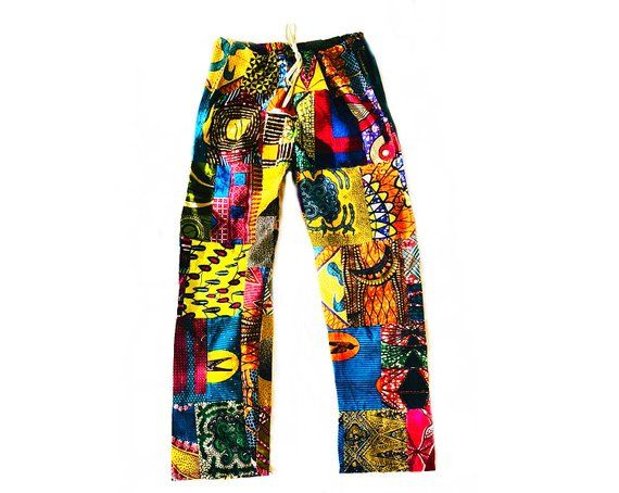 African Print Trousers Colourful Fabric Unisex Men/'s Women/'s Ankara Trousers African Pants