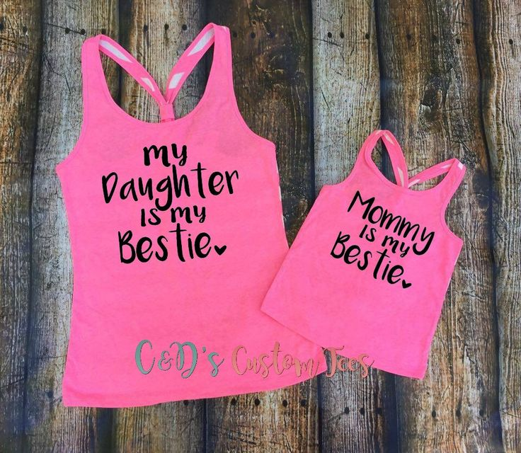 Mommy and Me Tanks - Mom and Daughter Tanks - Mommy Is My Bestie - Daughter Is My Bestie Tank - Mommy and Daughter Shirts - Best Friends Tee by CDCustomTees on Etsy https://www.etsy.com/listing/293377891/mommy-and-me-tanks-mom-and-daughter