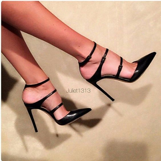 Ankle Strap Heels. These are beautiful. If I was putting all of this on that size heel, I would get these.