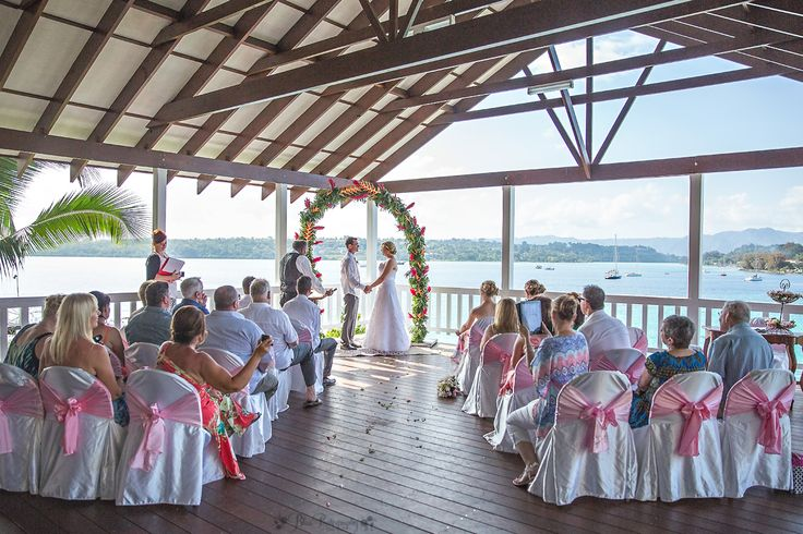Not a bad place for a Wedding! Ceremony with a view on the balcony at Iririki Island Resort & Spa Vanuatu Photo by:Leah Blissett