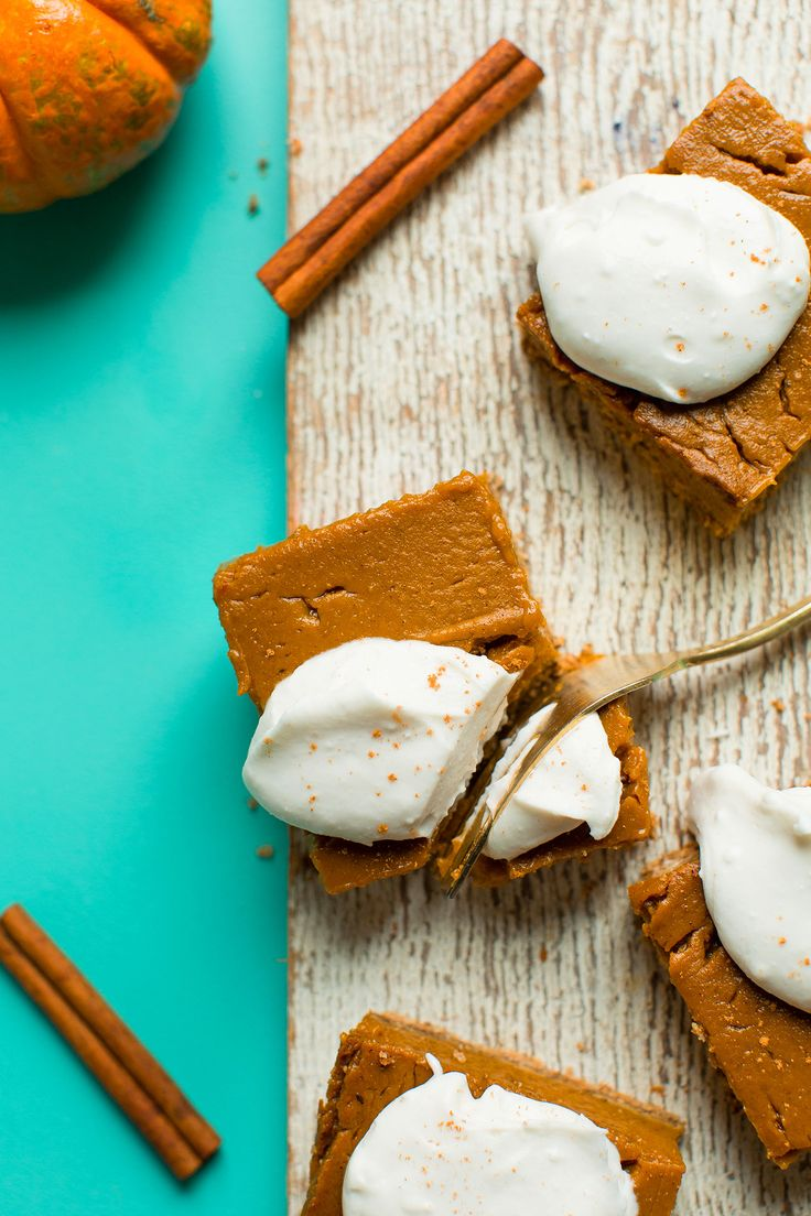 Amazing Pumpkin Pie Bars, gluten-free and vegan from Minimalist Baker