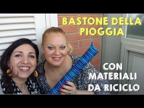 BASTONE DELLA PIOGGIA CON MATERIALI DA RICICLO