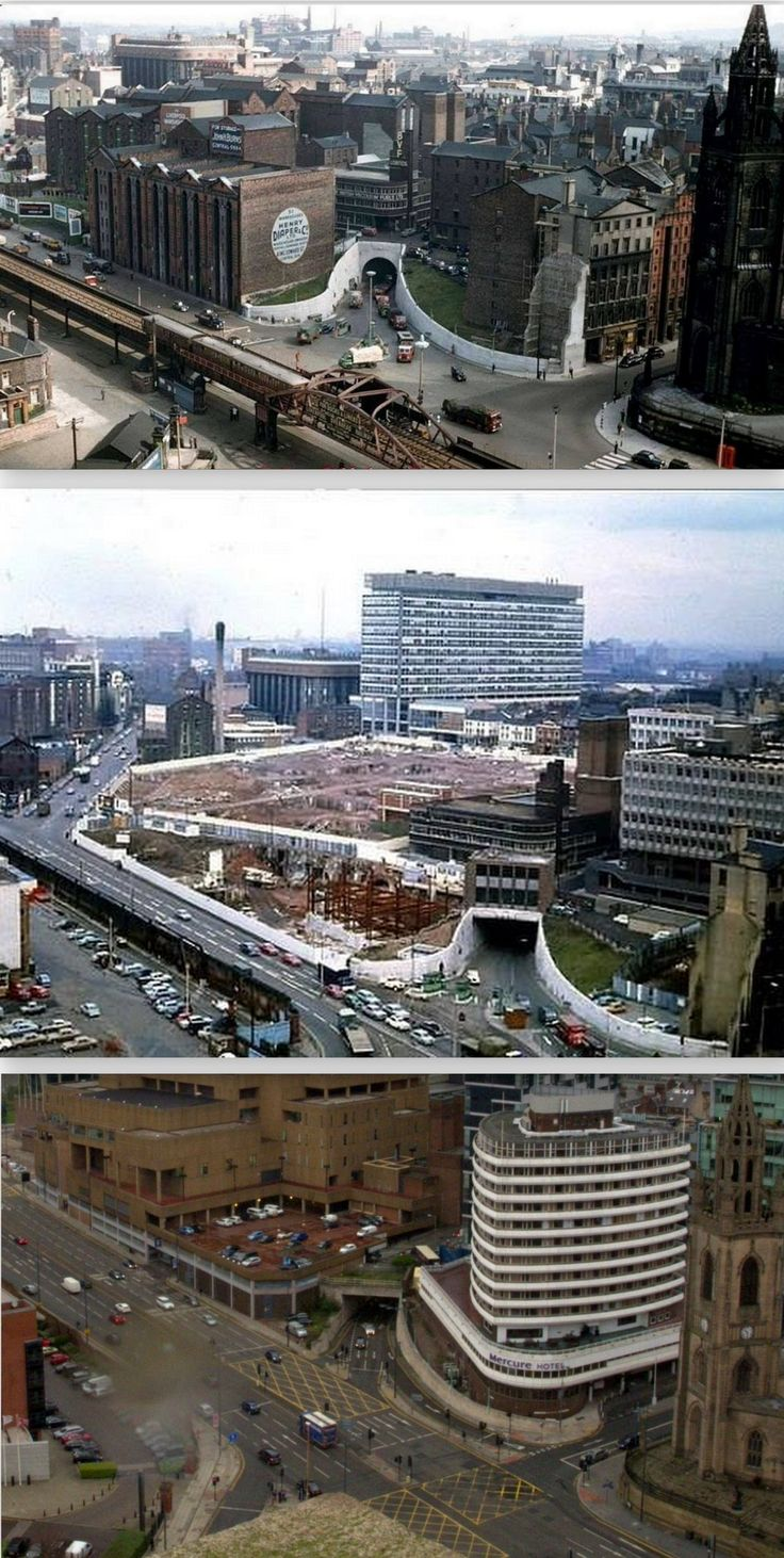 View from the Liver Building, 1950s, 1960s and 2017