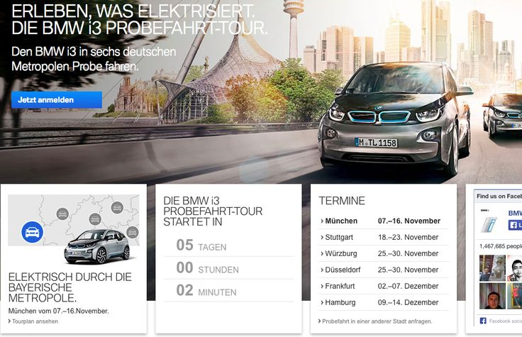 The BMW i3 is set to hit six German cities in November and December.