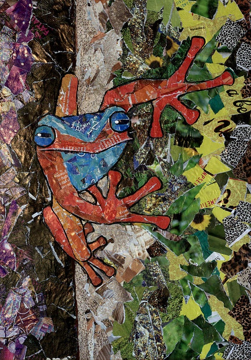 Recycled Magazine Artwork by Australian Artist, Lisa Frances Judd. For Sale $99. A4 in size and ready to frame.