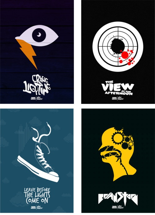 arctic monkeys: crying lightning, the view from the afternoon, leave before the lights come on, brianstorm.