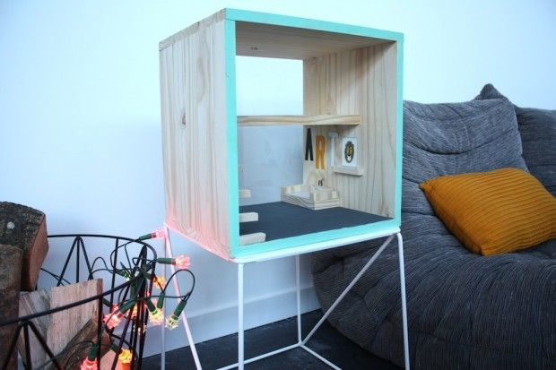 Maison de poup e fait maison en bois sylvanians id es - Bricolage fait maison ...