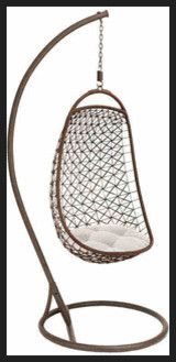 Benzara Metal Hanging Chair contemporary chairs