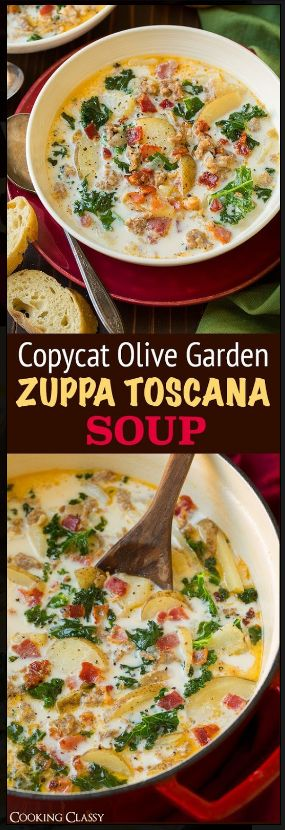 Zuppa Toscana Soup Recipe This Copycat Olive Garden Zuppa Toscana is a regular in my home. It is pure comfort food. #zuppa #toscana #soup #recipes #copycat #olivegarden #homemadesoup #recipes