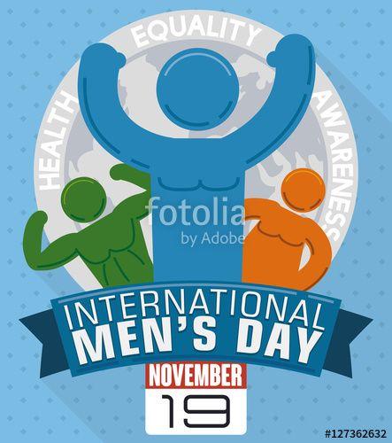 Different Men Shapes in Commemorative Design for International Men's Day