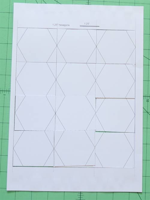 How to easily cut Hexagon Templates for English paper Piecing.
